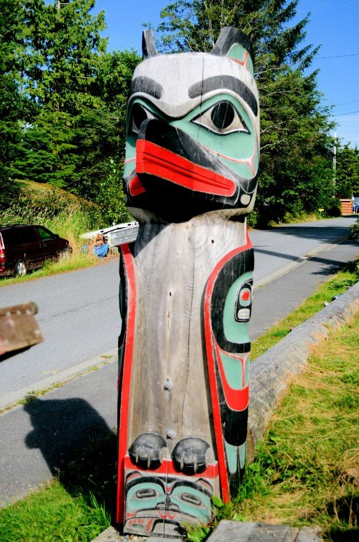 One of the shorter totem poles but very powerful looking.