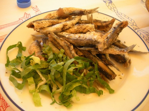 Small little fish prepared just right.. you just ate it, and it was pretty good!!