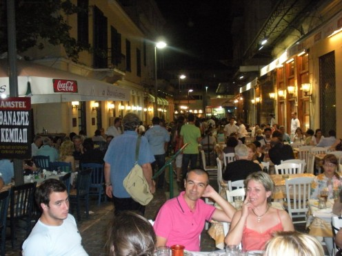 Athens, where we were when we had our first slouvakis!  I can't believe that I didn't take a pic of them, sigh..
