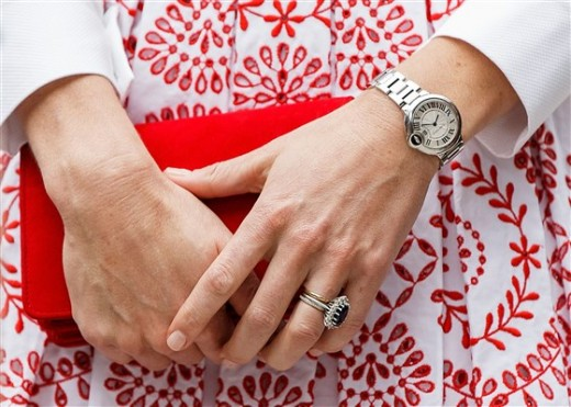 Kate Middleton, Duchess of Cambridge, is seen wearing no nail polish.