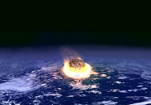 Asteroid on an Impact Course - Illustration