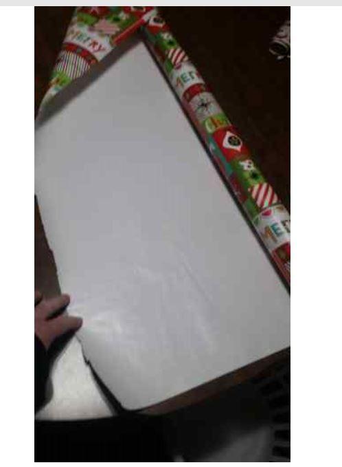 Unroll paper.