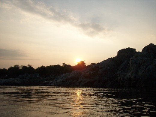 Sunset at Hogenakkal