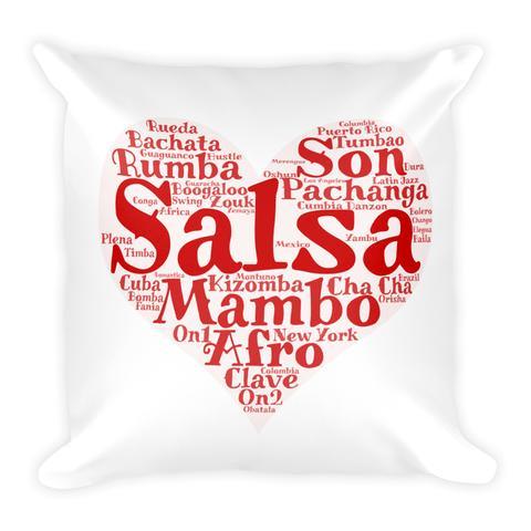 """""""Heart of Salsa"""" throw pillow from Salsa Vida"""