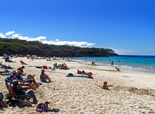 Hapuna Beach is a favorite family beach among locals and visitors.