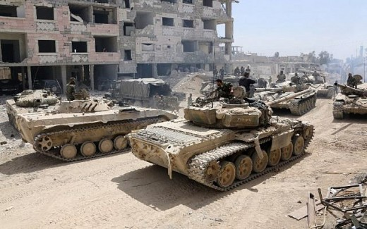 Syrian troops prepping for an attack