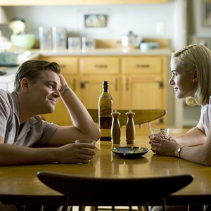 Leonardo Dicaprio as Frank and Kate Winslet as April in Revolutionary Road the movie.