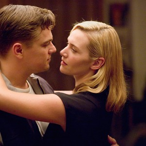 The characters Frank and April dancing together in a scene from Revolutionary Road the movie.