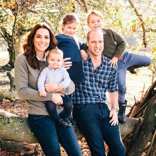 Prince William, Kate Middleton, Prince George, Princess Charlotte and Prince Louis