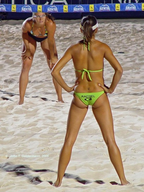 The Olympic Game's Beach Volley-ball has brought much sex appeal to the game with the introduction of the bikini in 1994.
