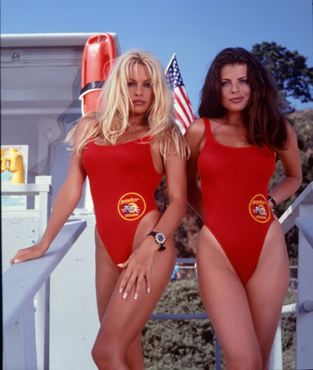In 1989 those hot red one-piece costumes delighted viewers world-wide.