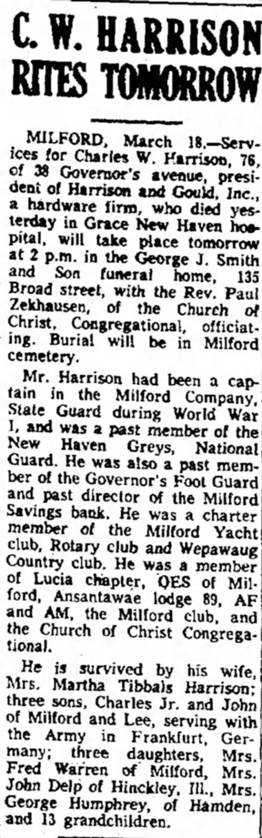 If this is the right Martha Tibbals, it sounds like she had a long life with children and grandchildren in plenty. This is the obituary of her husband.  The Bridgeport Post  (Bridgeport, Connecticut) 18 Mar 1958, Tue  • Page 49