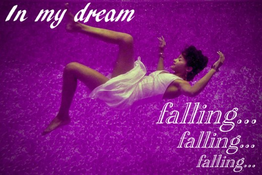 A woman falling - a dream about falling
