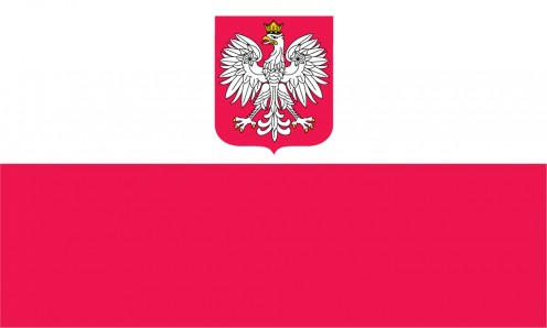 Flag of Poland with Crest