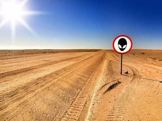 Dirt road to Area 51.