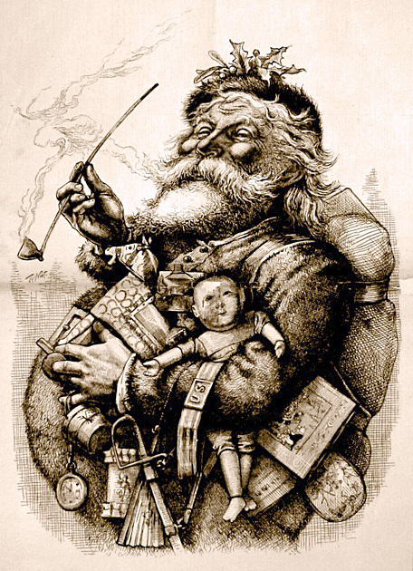 The traditional Santa Clause.
