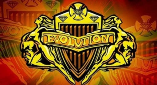 """The Logo of WWE Stable """"Evolution"""""""
