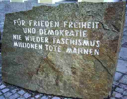 A stone in Austria as a remembrance of the atrocities of WWII