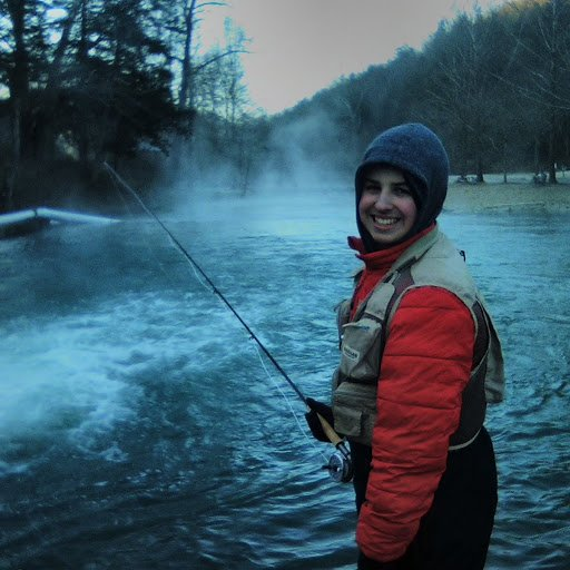 First day fly fishing for trout