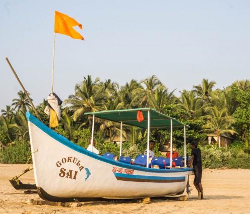 Small passenger boat at Agonda Beach