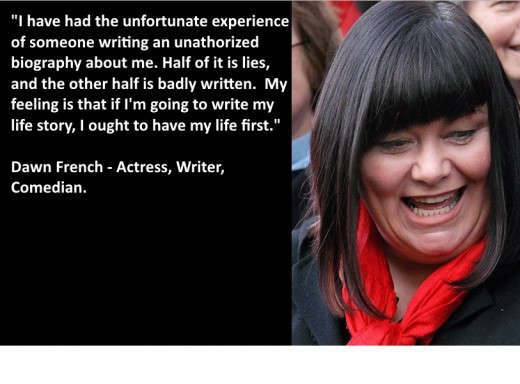 Dawn French on her unofficial biography