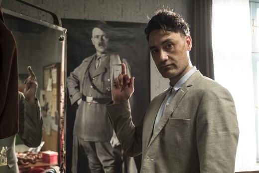 "Taika Waititi on the set of his new film, ""Jojo Rabbit."""