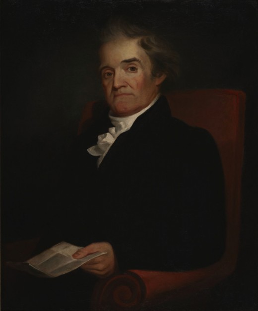 Portrait of Noah Webster by Samuel F.B. Morse, the inventor of the telegraph (1823)