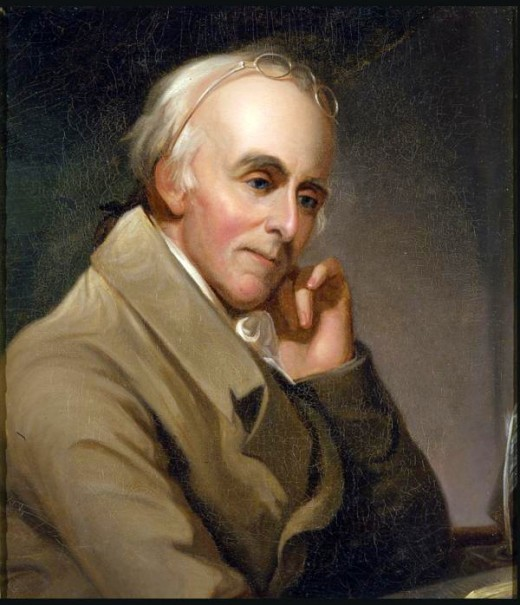 Portrait of Benjamin Rush by Charles Willson Peale (1817)