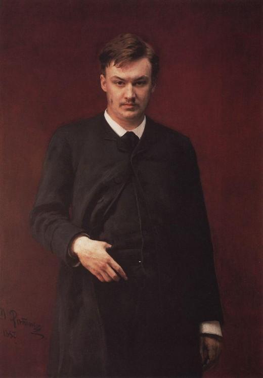 Portrait of Glazunov, 1887.