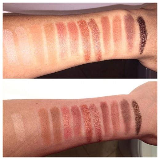 Swatches - Flash (Top) & No Flash (Bottom)