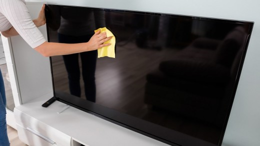 Cleaning Television Screen