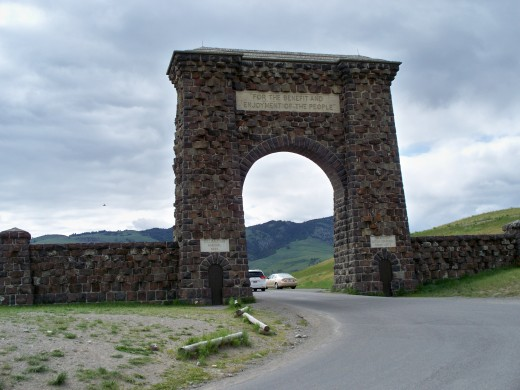 Roosevelt Gate (North Entrance) - Yellowstone National Park