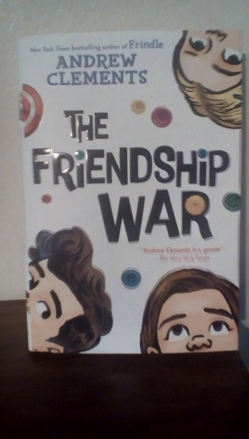 Fads can make or break a friendship in middle school.  Competition with button collections creates The Friendship War between Grace and Ellie