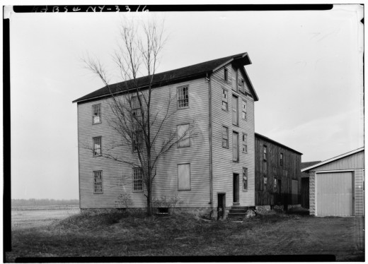 Shaker Church Family Seed House, HABS NY,1-COL,38-2; Photographed in 1927..