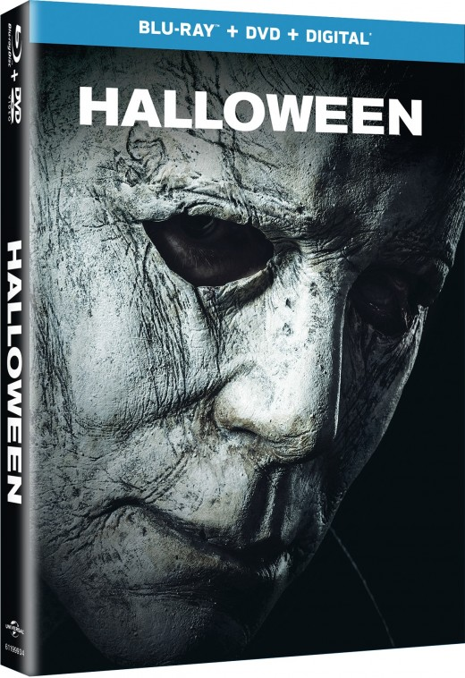 """The official cover for the DVD/Blu-ray of, """"Halloween."""""""