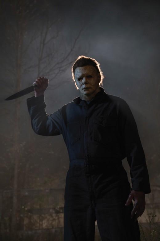 "The Shape returns to Haddonfield in, ""Halloween."""