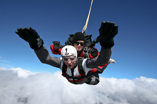 Tandem skydiving is a great way to experience a parachute jump