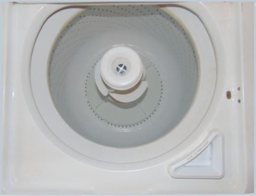 A clean washer tub.