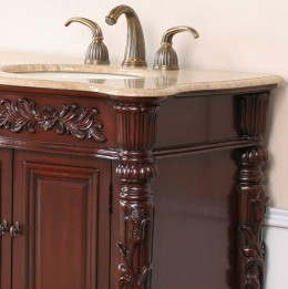 an elegantly-designed double bathroom cabinet.