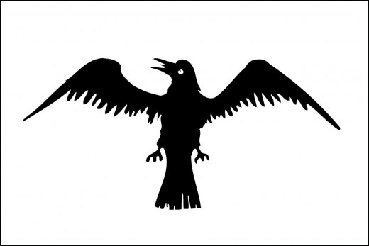 Jarl Sigurd Loddveson's flapping raven banner. It augured his own end at Clontarf near Dublin on Good Friday, 1014