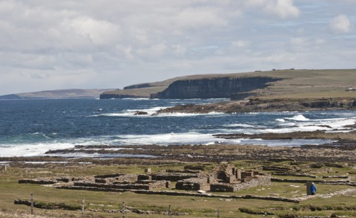 Brough of Birsay on the northwest side of Mainland, Orkney, ruined site of a jarl's garth or stronghold
