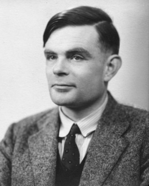 Alan Turing, wartime portrait - personal problems saw him stripped of his security status and subsequent suicide in 1954