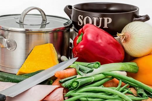 soup vegetables pot