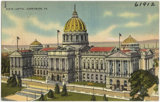Capital building during WWII.