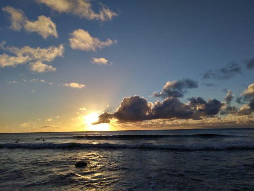 View of a beach near my volunteer location.
