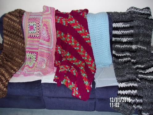 Squares, Corner-to-Corner, rows of single crochet.