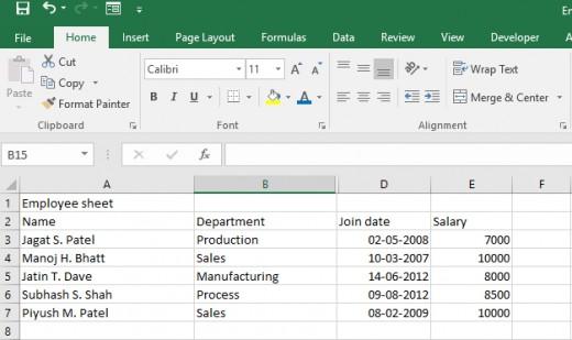 worksheet without formatting