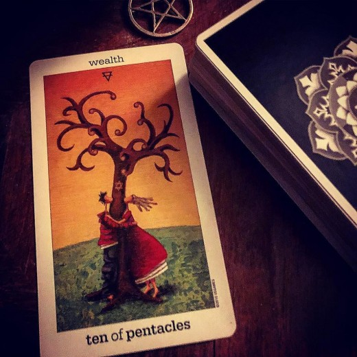 Tarot cards are used in divinationto gain insight into the past, present and future.