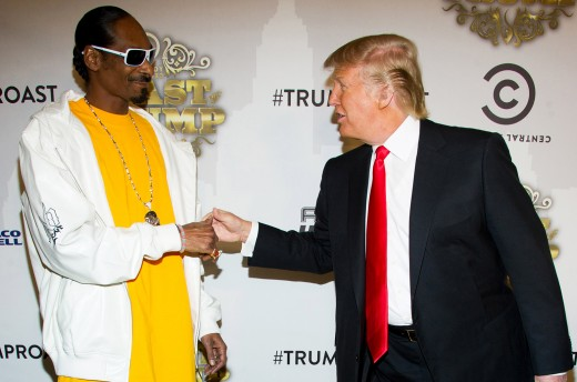 """In 2011 Snoop Dogg met with Donald Trump in a jovial way for a """"roast"""" session."""