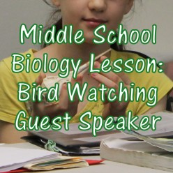 Bird Watching: A Middle School Biology Lesson